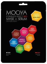 MOOYA COMPLETE EFFECT PRO - AKTYWNY ZABIEG PODWÓJNY LIFTING 40+ WAPŃ I CYNK MASKA + SERUM